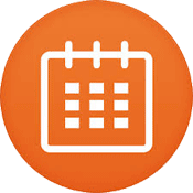 an icon showing a calendar